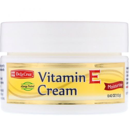 De La Cruz, Vitamin E Cream, 0.42 oz (12 g)
