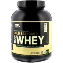 Optimum Nutrition, Gold Standard, 100% Whey, Natural, Chocolate, 4.8 lb (2.18 kg)