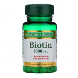 Nature's Bounty, Биотин, 1000 мкг, 100 таблеток