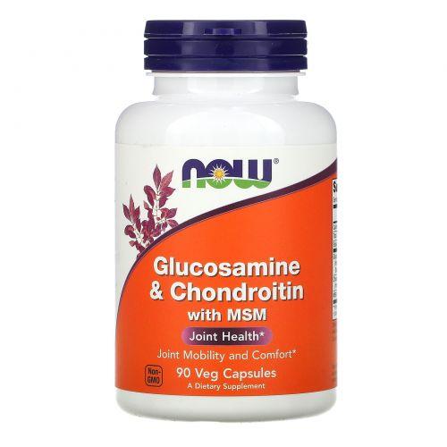 Now Foods, Аминоглюкоза и хондроитин с MSM, 90 капсул