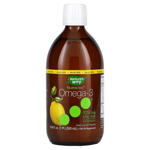 Ascenta, NutraSea, омега-3, со вкусом лимона, 16,9 жидкой унции (500 мл)