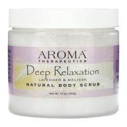 Abra Therapeutics, Натуральный скраб для тела, глубокая релаксация, лаванда и мелисса, 283 г