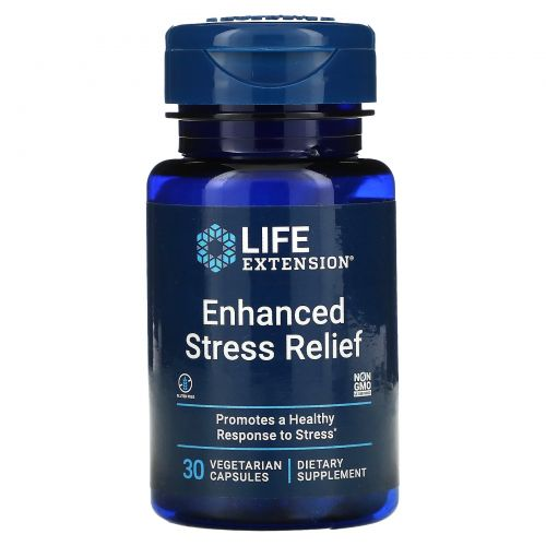 Life Extension, Natural Stress Relief, 30 Vegetarian Capsules