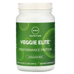"""MRM, """"Элитные овощи"""", растительный белковый комплекс для высокой производительности со вкусом плюшек с корицей, 36 унций (1,020 г)"""