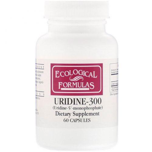 Cardiovascular Research Ltd., Экологические рецепты, Уридин-300, 60 капсул