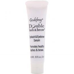 Godefroy, Double Lash & Brow, Eyelash and Eyebrow Serum, 0.1 fl oz (3 ml)