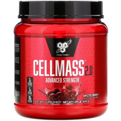 BSN, Cellmass 2.0, концентрированная добавка для восстановления после тренировок, со вкусом арктических ягод, 1.06 фунта (485 г)