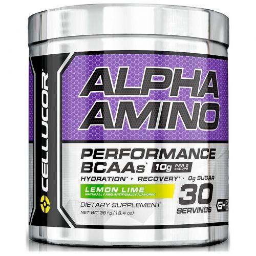 Cellucor, Alpha Amino. Активность аминокислот с разветвленной цепью, лимон-лайм, 13.4 унций (381 г)