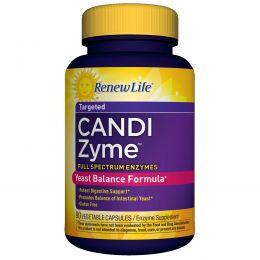 Renew Life, CandiZyme, направленного действия, 90 растительных капсул