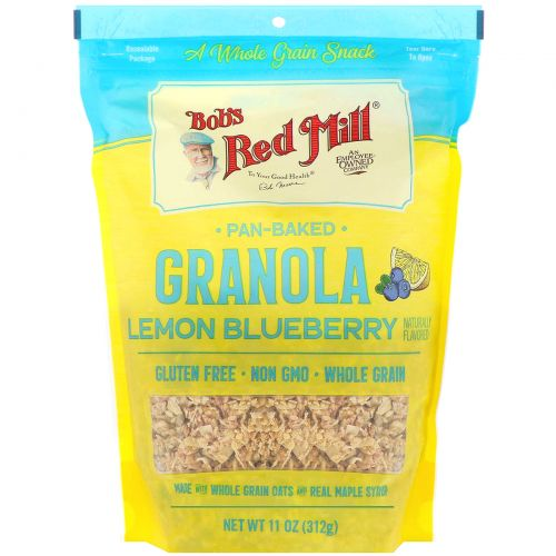 Bob's Red Mill, Печеная гранола, лимон и голубика, 312г (11унций)