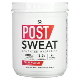 Sports Research, Post-Sweat Advanced Hydration, Fruit Punch, 16.9 oz (480 g)