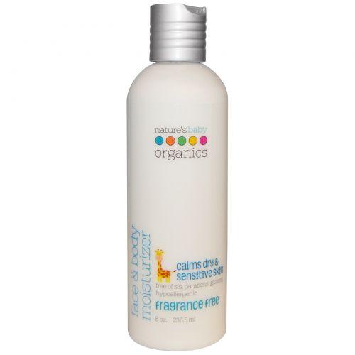 Nature's Baby Organics, Увлажняющее молочко для лица и тела, без запаха, 8 жидких унций (250 мл)