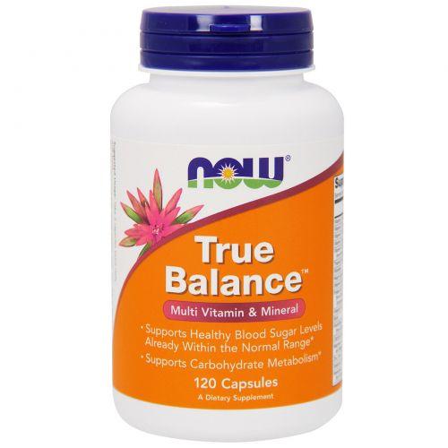 Now Foods, Истинный баланс, мультивитамин и минералы, 120 капсул