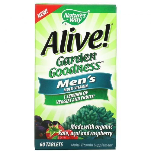 Nature's Way, Alive! Garden Goodness Men's Multivitamin, 60 Tablets