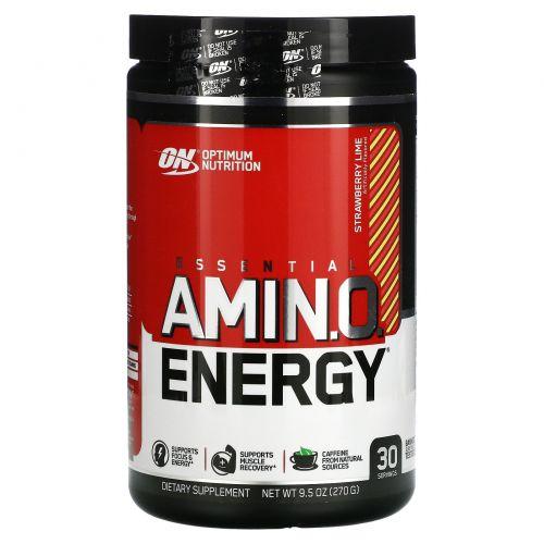 Optimum Nutrition, Энергия незаменимых аминокислот, клубника и лайм, 9,5 унций (270 г)