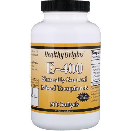 Healthy Origins, E - 400, 360 мягких капсул