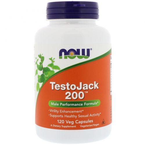 Now Foods, TestoJack 200, 120 вегетарианских капсул