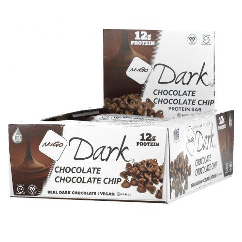 NuGo Nutrition, Батончики с кусочками темного шоколада, 12 батончиков по 1,76 унции (50 г)