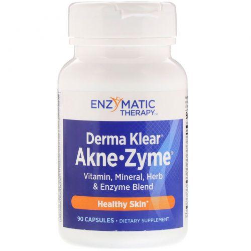 Enzymatic Therapy, Средство для лечения акне Derma Klear Akne • Zime, Здоровье кожи, 90 капсул