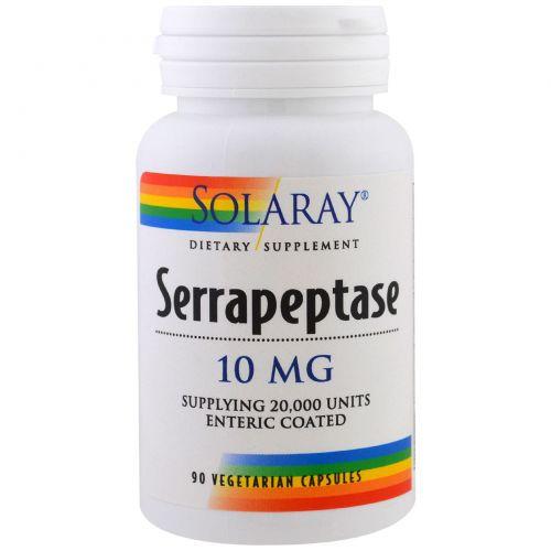 Solaray, Serrapeptase, 10 мг, 90 капсул