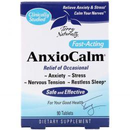 EuroPharma, Terry Naturally, AnxioCalm, успокоительное средство, 90 таблеток