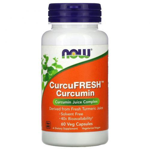 Now Foods, Куркумин CurcuFresh, 60 вегетарианских капсул