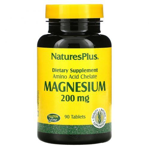 Nature's Plus, Магний, 200 мг, 90 таблеток