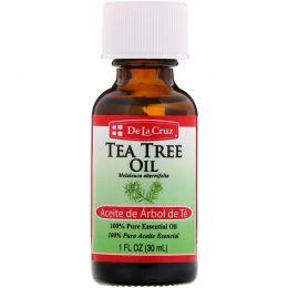 De La Cruz, Масло чайного дерева, 100% чистое эфирное масло, 1 ж. унц. (30 мл)