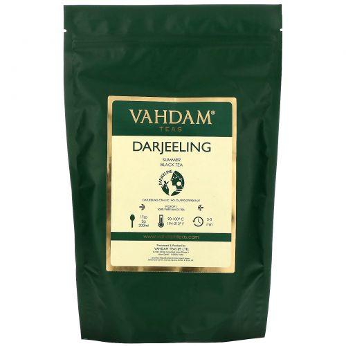 Vahdam Teas, черный чай, Дарджилинг, для ежедневного использования, 100г (3,53унции)