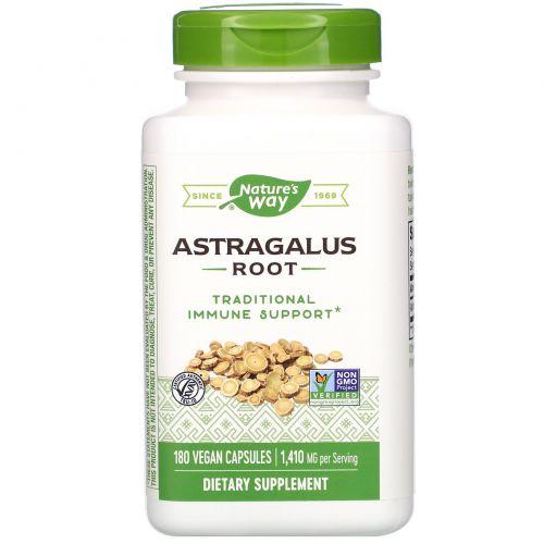 Nature's Way, Корень астрагала, 470 мг, 180 растительных капсул
