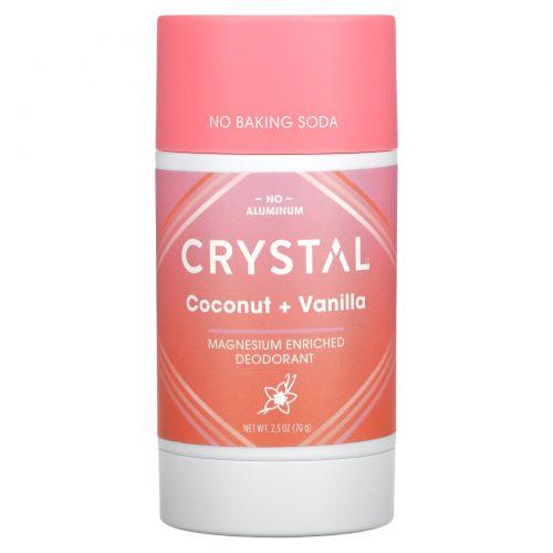 Crystal Body Deodorant, Magnesium Enriched Deodorant, Coconut + Vanilla, 2.5 oz (70 g)