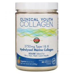 KAL, Hydrolyzed Marine Collagen, Type I & III, Tangerine Dream Powder , 5000 mg , 10.5 oz (298 g)