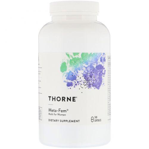 Thorne Research, Meta-Fem, 240 вегетарианских капсул