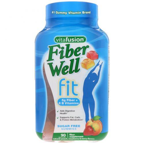 VitaFusion, Витамины FiberWell Fit, 90 жевательных таблеток