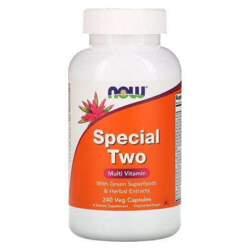 Now Foods, Special Two, мультивитамины, 240 растительных капсул