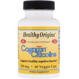 Healthy Origins, Когнизин (цитиколин), 250 мг, 60 вегетарианских капсул