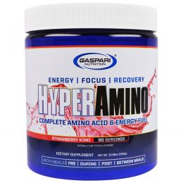 Gaspari Nutrition, HyperAmino, Strawberry Kiwi, Net Wt 10.58 oz (300 g)