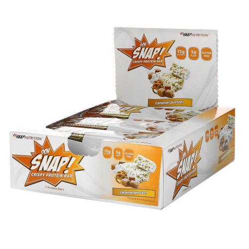 OOH Snap!, Хрустящий протеиновый батончик, карамель, 7 батончиков, 1,6 унц. (44 г) каждый