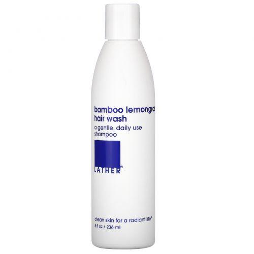 Lather, Bamboo Lemongrass Hair Wash, 8 fl oz (236 ml)
