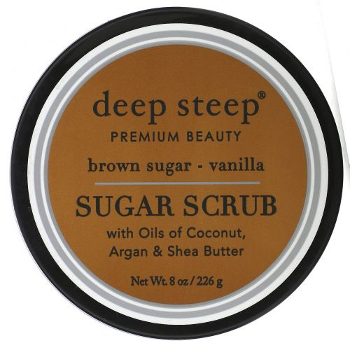 Deep Steep, Сахарный скраб, коричневый сахар и ваниль, 8 унций (226 г)
