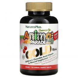 Nature's Plus, Nature's Plus, Парад животных, детский жевательный комплекс мультивитаминов и минералов, натуральный вишневый вкус, 120 таблеток