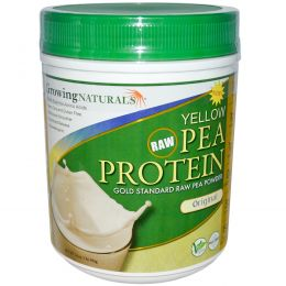 Growing Naturals, Протеин из желтого гороха, оригинальный, 16 унций (456 г)