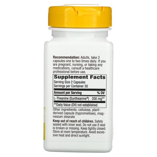 Enzymatic Therapy, L-Тианин, Стресс 60 овощных капсул