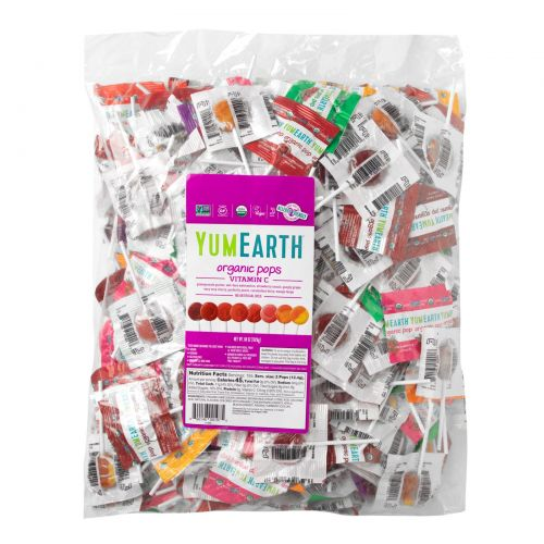 YumEarth, Органические леденцы с витамином C, 5 фунтов (2270 г)