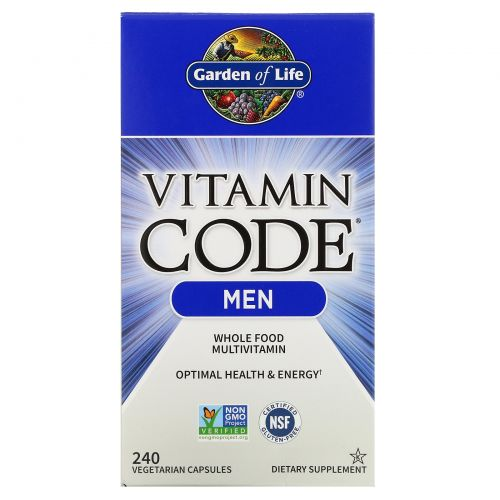 Garden of Life, Витаминный код, для мужчин, 240 вегетарианских капсул