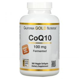 California Gold Nutrition, CoQ10, 100 mg, 360 Овощные мягкие гели