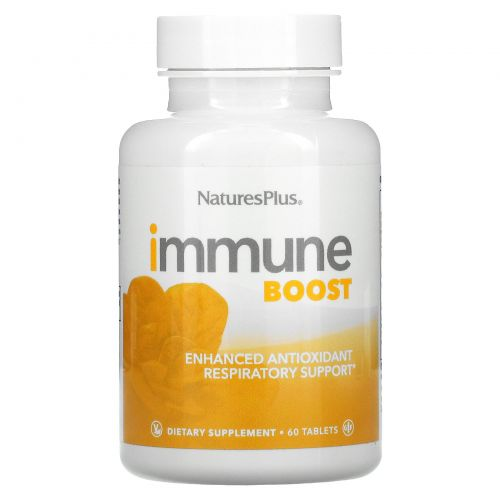 Nature's Plus, Immune Boost, Enhanced Antioxidant Respiratory Support, 60 Tablets