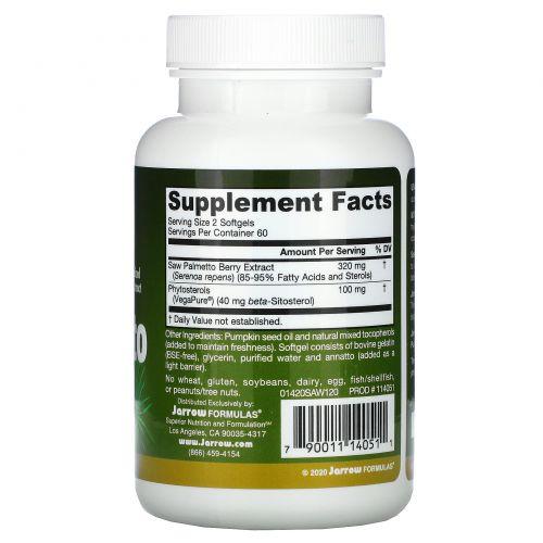 Jarrow Formulas, Пальма сереноа, 160 мг, 120 капсул
