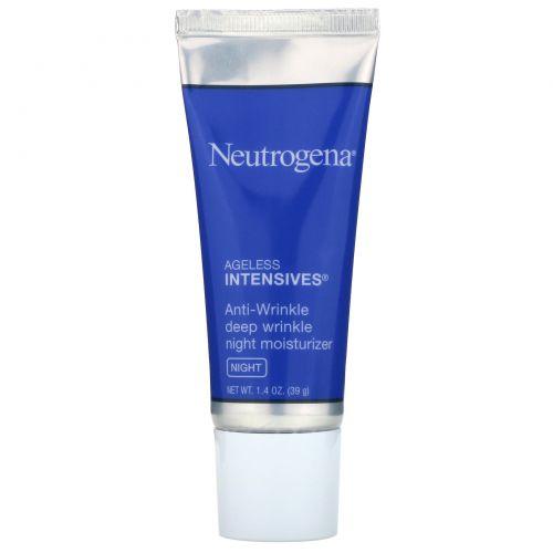Neutrogena, Ночной увлажняющий крем от глубоких морщин, Ночь, 1,4 унции (39 г)