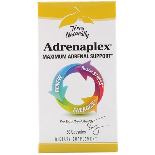 EuroPharma, Terry Naturally, Terry Naturally, Adrenaplex, 60 капсул
